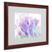 Trademark Fine Art 'Purple Blues'  16 x 20 Wood Frame Art