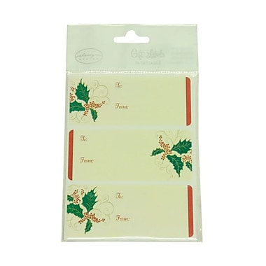 JAM Paper® 2 1/4in. x 3 1/2in. Ivory To From Name Tag Gift Label, 2/Page, 24/Pack