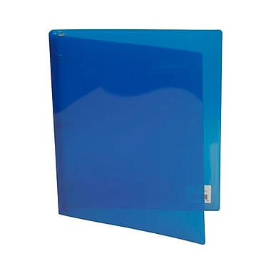 JAM Paper® Plastic 3 Ring Binder, 0.75 inch, Blue, Sold Individually (53016BU)