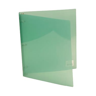 JAM Paper® Plastic Three Ring 3/4in. Binders, Jade Light Green