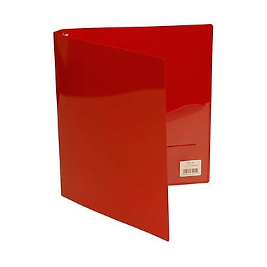 JAM Paper® Plastic Three Ring 3/4in. Binders, Red