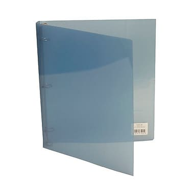 JAM Paper® Plastic Three Ring 3/4in. Binders, Graphite Blue