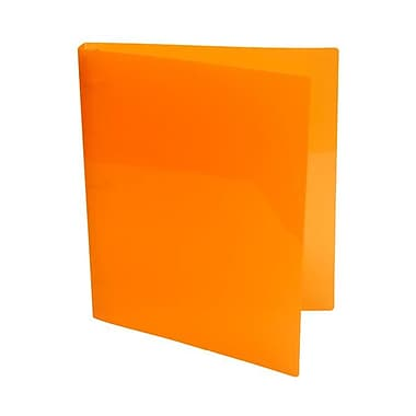 JAM Paper® Plastic Three Ring 3/4in. Binders, Orange