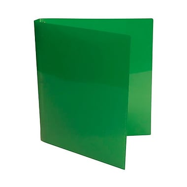 JAM Paper® Plastic Three Ring 3/4in. Binders, Green