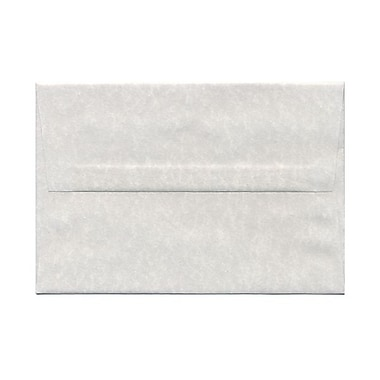 JAM Paper® A8 Invitation Envelopes, 5.5 x 8.125, Parchment Pewter Grey Recycled, 100/Pack (91304g)