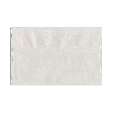 JAM Paper® A10 Invitation Envelopes, 6 x 9.5, Parchment Pewter Grey Recycled, 100/Pack (57156g)