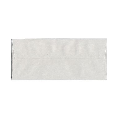 JAM Paper® #10 Business Envelopes, 4 1/8 x 9.5, Parchment Pewter Grey Recycled, 1000/Pack (V01726B)