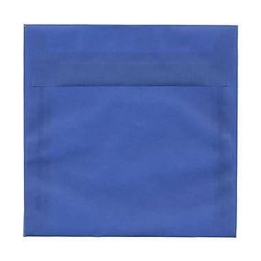 JAM Paper® 6.5 x 6.5 Square Envelopes, Medium Blue Translucent Vellum, 100/Pack (2812709B)