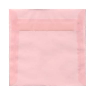 JAM Paper® 6.5 x 6.5 Square Envelopes, Pink Translucent Vellum, 100/Pack (2812712B)
