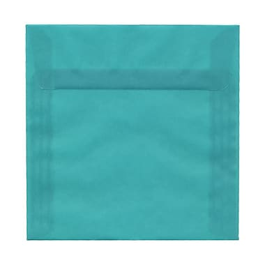 JAM Paper® 6.5 x 6.5 Square Envelopes, Turquoise Blue Translucent Vellum, 100/Pack (2812717B)