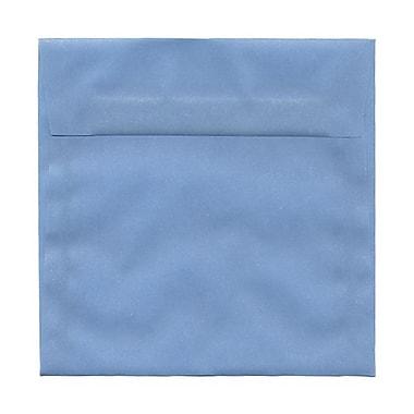 JAM PaperMD – Enveloppes carrées Stardream fini métallique avec fermetures gommées, 6 1/2 x 6 1/2 po, argenté