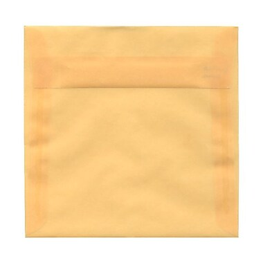 JAM Paper® 6.5 x 6.5 Square Envelopes, Peach Translucent Vellum, 25/Pack (2812721)