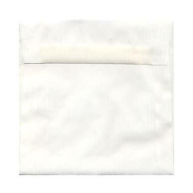 JAM Paper® 6.5 x 6.5 Square Envelopes, White Pinstripe Translucent Vellum, 25/Pack (2812724)