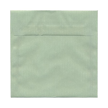 JAM Paper® 6.5 x 6.5 Square Envelopes, River Green Translucent Vellum, 25/Pack (2812727)
