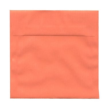 JAM Paper® 6.5 x 6.5 Square Envelopes, Sandy Salmon Pink Translucent Vellum, 100/Pack (2812728B)