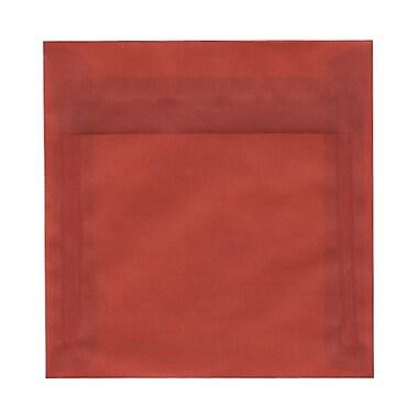 JAM Paper® 6.5 x 6.5 Square Envelopes, Brick Red Terracotta Translucent Vellum, 100/Pack (2812703B)