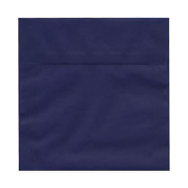 JAM Paper® 6.5 x 6.5 Square Envelopes, Indigo Blue Translucent Vellum, 100/Pack (2812704B)