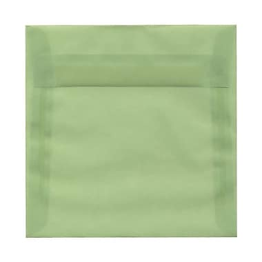 JAM Paper® 6.5 x 6.5 Square Envelopes, Celadon Green Translucent Vellum, 100/Pack (2812707B)