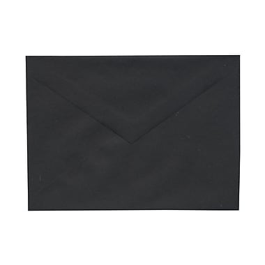 JAM Paper® A7 Invitation Envelopes, 5.25 x 7.25, Black with V-Flap, 1000/Pack (21154202B)