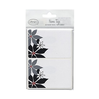 JAM Paper® 2 1/4in. x 3 1/2in. Flowers Name Tag Gift Label, 2/Page, 24/Pack