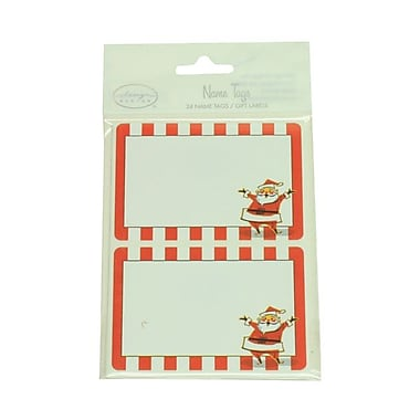 JAM Paper® Christmas Holiday Gift Label Name Tag Stickers, 2.25 x 3.5, Red Santa, 24/pack (2167215458)