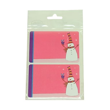 JAM Paper® 2 1/4in. x 3 1/2in. Snowman Name Tag Gift Label, 2/Page, 24/Pack