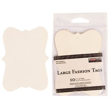 JAM Paper® Creative Gift Tags, Large, 3 x 4, Ivory Fashion, 10/pack (305124654)