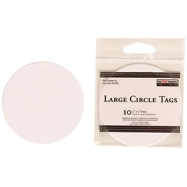 JAM Paper® Creative Gift Tags, Large, 3 x 3, White Circle, 40/Pack (305124653g)