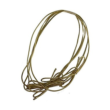 JAM Paper® Metallic Elastic String Ties, 16 inch Loop, Gold, 50 per Pack (6564973B50)