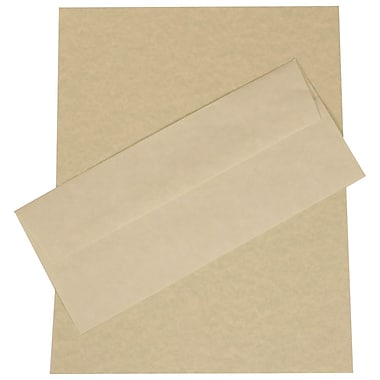 JAM Paper® Business Parchment Stationery Set, 100 Sheets of Paper and 100 #10 Envelopes, Green Recycled, set of 100 (303024428)