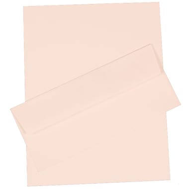 JAM Paper® Strathmore Stationery Set W/100 Sheets of Paper & #10 Matching Envelopes, Bright White