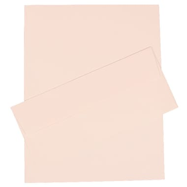 JAM® 4.125in. x 9.5in. Pinestripe Stationery Set W/100 Paper & #10 Matching Envelopes, Bright White