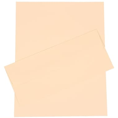 JAM Paper® 4.125in. x 9.5in. Laid Stationery Set W/100 Paper & #10 Matching Envelopes, Ivory