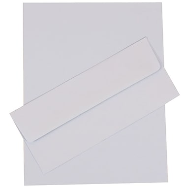 JAM Paper® 4.125in. x 9.5in. Base Business Stationery Set W/50 Paper & Matching #10 Envelopes, Baby Blue