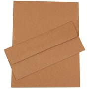 JAM Paper® Recycled Business Stationery Set W/50 Sheets of Paper & 50 Matching #10 Envelopes, Recycled Brown Kraft