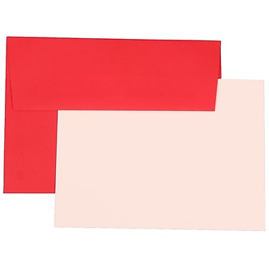 JAM Paper® A7 Brite Hue Recycled Stationery Set With 25 Cards & Envelopes, Red