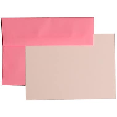JAM Paper® A7 Brite Hue Stationery Set With 25 Cards & Envelopes, Ultra Pink