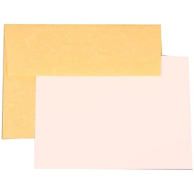 JAM Paper® A7 Parchment Recycled Stationery Set With 25 Cards & Envelopes, Antique Gold