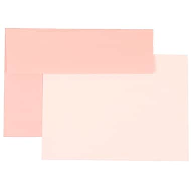 JAM Paper® A7 Base Stationery Set With 25 Cards & Envelopes, Baby Pink