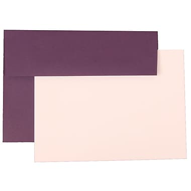 JAM Paper® A7 Base Stationery Set With 25 Cards & Envelopes, Dark Purple