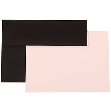 JAM Paper® A7 Linen Recycled Stationery Set With 25 Cards & Envelopes, Black