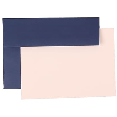 JAM Paper® A7 Base Stationery Set With 25 Cards & Envelopes, Presidential Blue