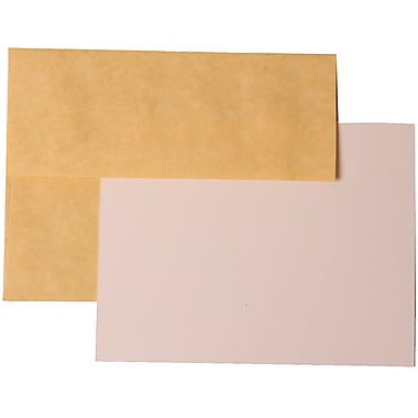JAM Paper® A2 Parchment Recycled Stationary Sets With 25 Cards & Envelopes