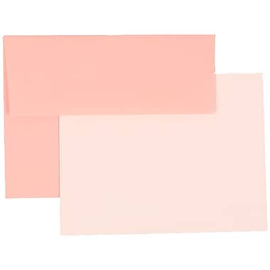 JAM Paper® A2 Base Stationery Set With 25 Cards & Envelopes, Baby Pink