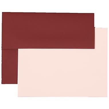 JAM Paper® A2 Base Stationery Set With 25 Cards & Envelopes, Burgundy