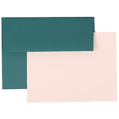 JAM Paper® A2 Base Stationery Set With 25 Cards & Envelopes, Teal