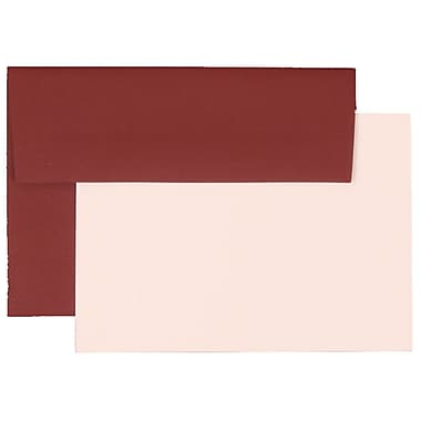 JAM Paper® 4Bar Base Stationery Set With 25 Cards & Envelopes, Burgundy