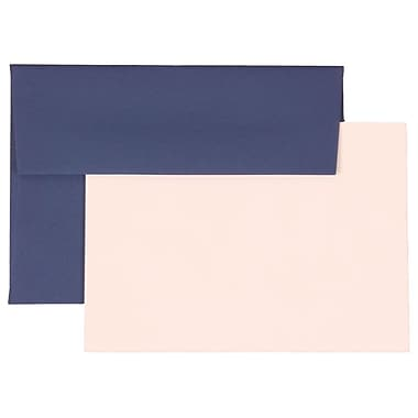 JAM Paper® 4Bar Base Stationery Set With 25 Cards & Envelopes, Presidential Blue