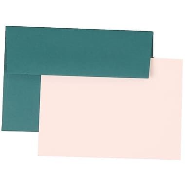 JAM Paper® 4Bar Base Stationery Set With 25 Cards & Envelopes, Teal