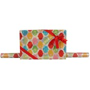 JAM Paper® Glitter Christmas Holiday Gift Wrapping Paper, 25 sq. ft., Silver Peace Snowflake, Sold Individually (165524341)